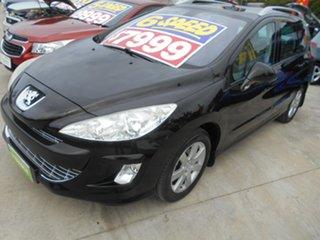 2011 Peugeot 308 T7 XSE Touring Black 6 Speed Manual Wagon.
