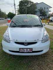 2003 Honda Jazz GD VTi White 5 Speed Manual Hatchback.