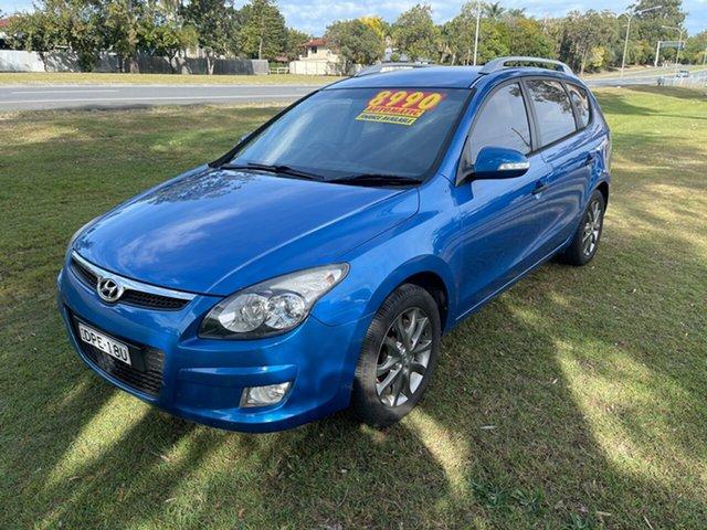Used Hyundai i30 FD MY11 Sportswagon cw Wagon Clontarf, 2011 Hyundai i30 FD MY11 Sportswagon cw Wagon Blue 4 Speed Automatic Wagon
