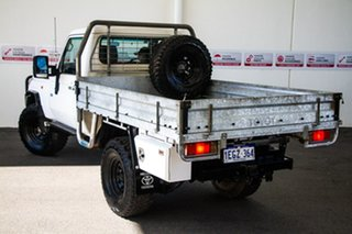 2012 Toyota Landcruiser VDJ79R MY12 Update Workmate (4x4) French Vanilla 5 Speed Manual Cab Chassis