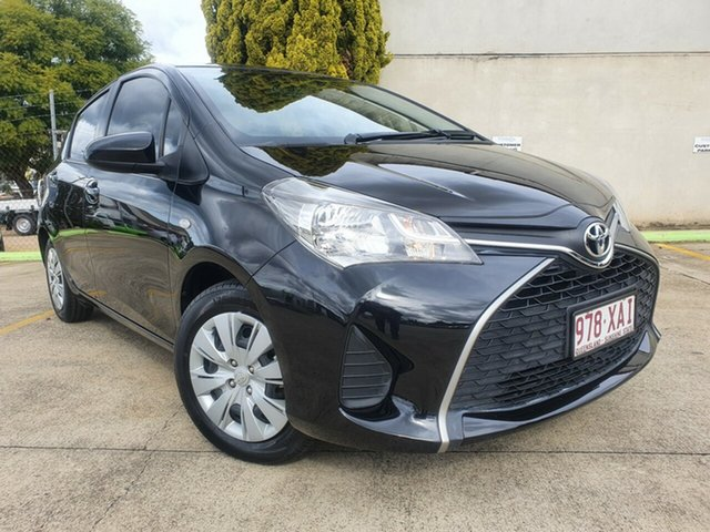 Used Toyota Yaris NCP130R Ascent Toowoomba, 2016 Toyota Yaris NCP130R Ascent Black 4 Speed Automatic Hatchback