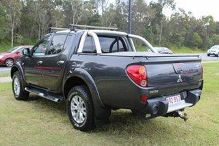 2014 Mitsubishi Triton MN MY15 GLX-R Double Cab Warrior Grey 5 Speed Manual Utility