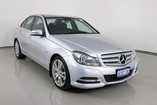 2012 Mercedes-Benz C250 W204 MY11 Avantgarde BE Silver 7 Speed Automatic G-Tronic Sedan.