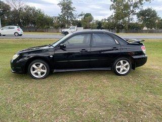 2007 Subaru Impreza S MY07 R AWD Black 5 Speed Manual Sedan