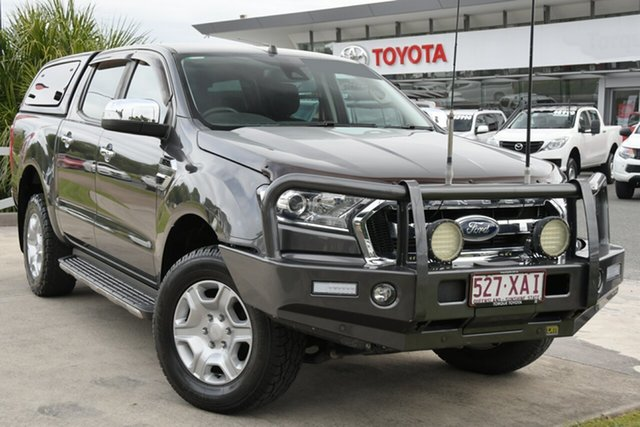 Pre-Owned Ford Ranger PX MkII XLT Double Cab North Lakes, 2017 Ford Ranger PX MkII XLT Double Cab Grey 6 Speed Sports Automatic Utility