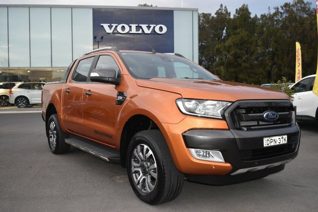 Used Ford Ranger PX MkII Wildtrak Double Cab Gosford, 2016 Ford Ranger PX MkII Wildtrak Double Cab Orange 6 Speed Manual Utility