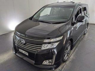 2011 Nissan Elgrand PE52 Highway Star Premium Black 6 Speed Constant Variable Wagon.