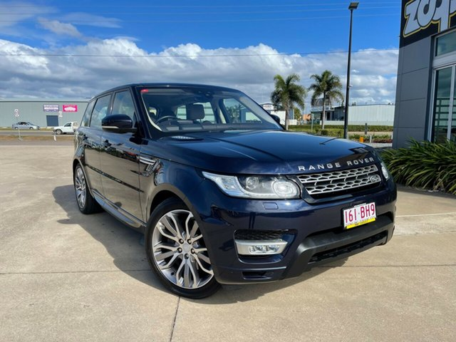 Used Land Rover Range Rover Sport L494 18MY HSE Townsville, 2017 Land Rover Range Rover Sport L494 18MY HSE Blue/290917 8 Speed Sports Automatic Wagon