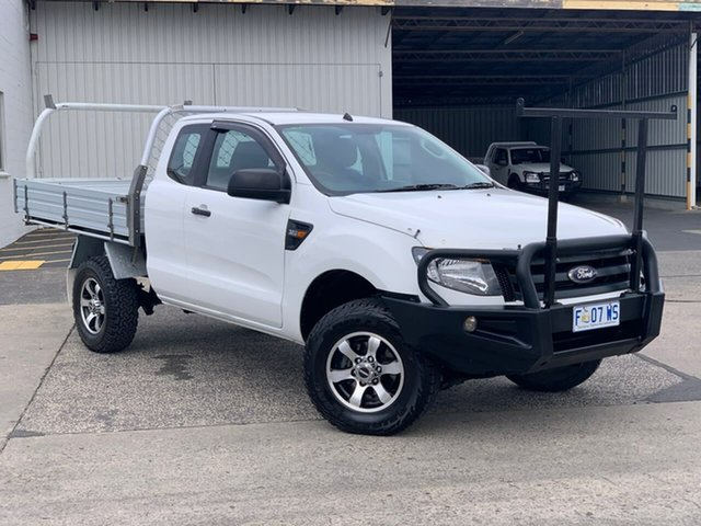 Used Ford Ranger PX XL Moonah, 2014 Ford Ranger PX XL White 6 Speed Manual Cab Chassis