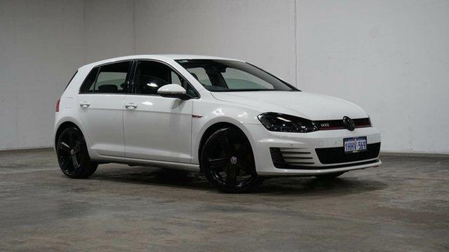 Used Volkswagen Golf VII MY14 GTi Welshpool, 2014 Volkswagen Golf VII MY14 GTi White 6 Speed Manual Hatchback