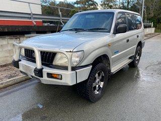 1999 Toyota Landcruiser PRADO RV6 VZJ95 Silver 4 Speed Auto Active Select Wagon.