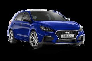 2021 Hyundai i30 PD.V4 N Line Premium Intense Blue 6 Speed Manual Hatchback
