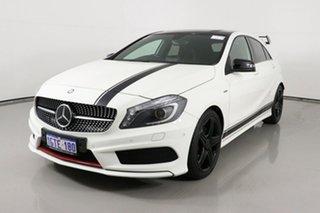 2014 Mercedes-Benz A250 176 MY15 Sport White 7 Speed Automatic Hatchback.