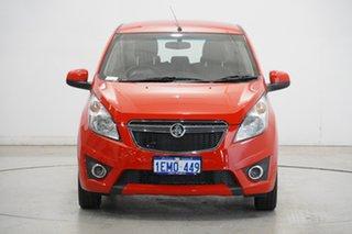 2013 Holden Barina Spark MJ MY13 CD Red 5 Speed Manual Hatchback.