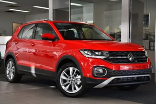 2021 Volkswagen T-Cross C1 MY21 85TSI DSG FWD Style Flash Red 7 Speed Sports Automatic Dual Clutch.