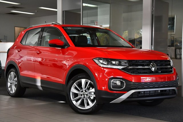New Volkswagen T-Cross C1 MY21 85TSI DSG FWD Style Victoria Park, 2021 Volkswagen T-Cross C1 MY21 85TSI DSG FWD Style Red 7 Speed Sports Automatic Dual Clutch Wagon