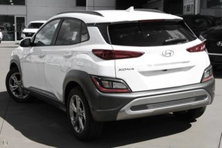2021 Hyundai Kona Os.v4 MY21 Elite 2WD White 8 Speed Constant Variable Wagon