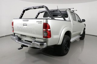2013 Toyota Hilux KUN26R MY12 SR5 (4x4) Silver 5 Speed Manual Dual Cab Pick-up