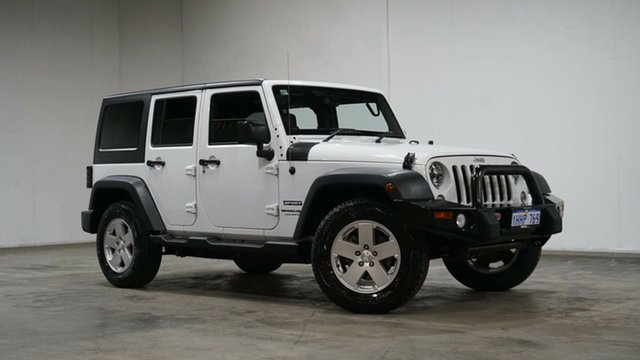 Used Jeep Wrangler JK MY18 Unlimited Sport Welshpool, 2018 Jeep Wrangler JK MY18 Unlimited Sport White 5 Speed Automatic Softtop