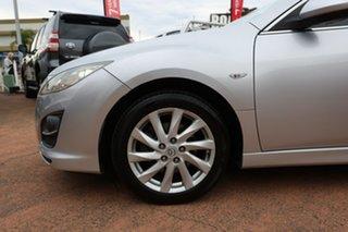 2010 Mazda 6 GH MY09 Classic Silver 5 Speed Auto Activematic Wagon.