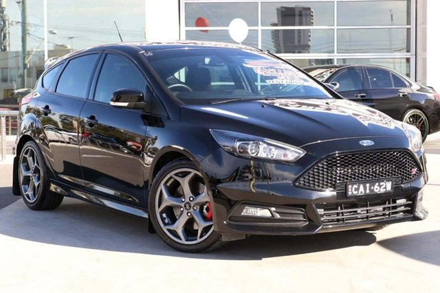 Used Ford Focus LZ ST Liverpool, 2017 Ford Focus LZ ST Black 6 Speed Manual Hatchback