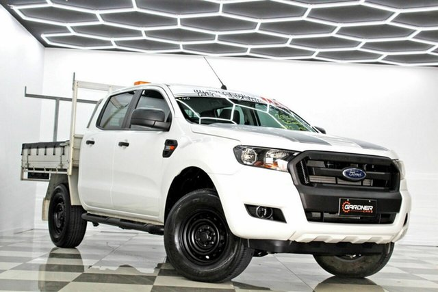 Used Ford Ranger PX MkII MY17 XL 3.2 (4x4) Burleigh Heads, 2016 Ford Ranger PX MkII MY17 XL 3.2 (4x4) White 6 Speed Automatic Crew Cab Chassis