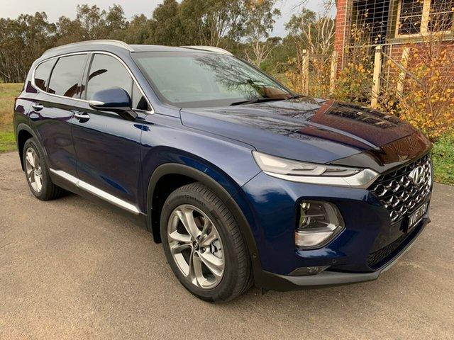 Used Hyundai Santa Fe TM Highlander Geelong, 2018 Hyundai Santa Fe TM Highlander Blue Sports Automatic Wagon