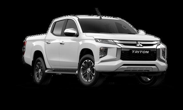 Used Mitsubishi Triton MR MY20 GLS Double Cab Cardiff, 2019 Mitsubishi Triton MR MY20 GLS Double Cab White 6 Speed Manual Utility