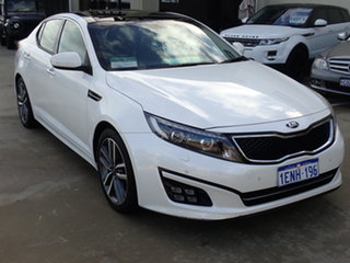 2014 Kia Optima TF MY14 Platinum White 6 Speed Automatic Sedan.