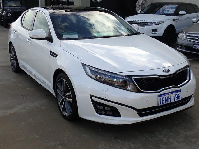 Used Kia Optima TF MY14 Platinum Wangara, 2014 Kia Optima TF MY14 Platinum White 6 Speed Automatic Sedan