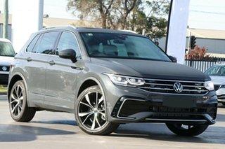 2021 Volkswagen Tiguan 5N MY21 162TSI R-Line DSG 4MOTION Deep Black Pearl Effect 7 Speed.