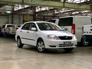 2003 Toyota Corolla ZZE122R Ascent White 4 Speed Automatic Sedan.