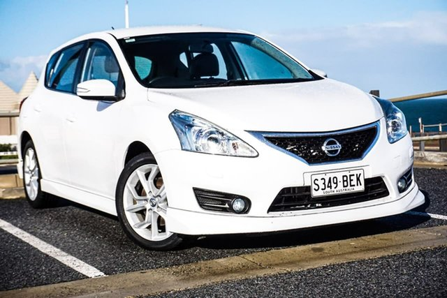 Used Nissan Pulsar C12 SSS Christies Beach, 2013 Nissan Pulsar C12 SSS White 1 Speed Constant Variable Hatchback