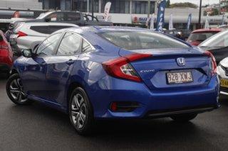 2017 Honda Civic 10th Gen MY16 VTi Blue 1 Speed Constant Variable Sedan.