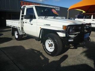 1998 Toyota Landcruiser HZJ75RP White 5 Speed Manual Cab Chassis.