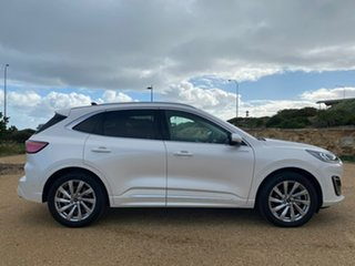 2020 Ford Escape ZH 2021.25MY Vignale AWD White 8 Speed Sports Automatic SUV.