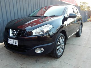 2011 Nissan Dualis J10 Series II MY2010 Ti Hatch X-tronic Black 6 Speed Constant Variable Hatchback.