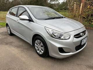 2016 Hyundai Accent RB4 Active Silver Constant Variable Sedan.