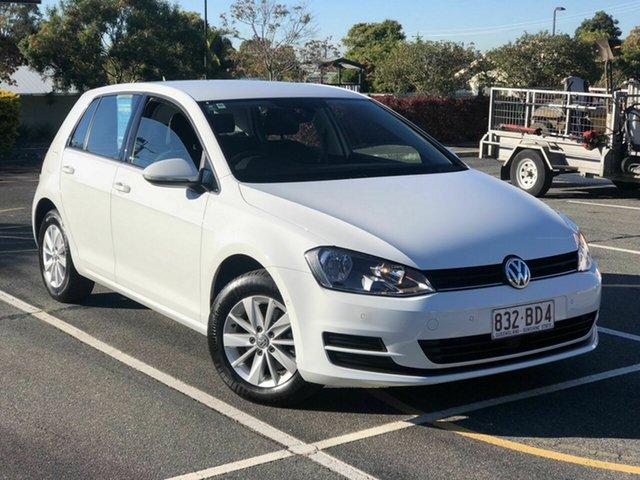 Used Volkswagen Golf VII MY17 92TSI Trendline Chermside, 2016 Volkswagen Golf VII MY17 92TSI Trendline White 6 Speed Manual Hatchback