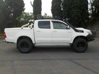 2014 Toyota Hilux KUN26R MY12 SR5 (4x4) White 5 Speed Manual Dual Cab Pick-up