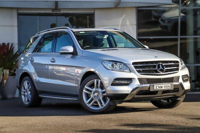 Used Mercedes-Benz M-Class W166 MY805 ML250 BlueTEC 7G-Tronic + Sutherland, 2015 Mercedes-Benz M-Class W166 MY805 ML250 BlueTEC 7G-Tronic + Silver, Chrome 7 Speed