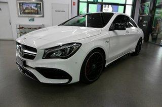 2018 Mercedes-Benz CLA-Class C117 809MY CLA45 AMG SPEEDSHIFT DCT 4MATIC White 7 Speed