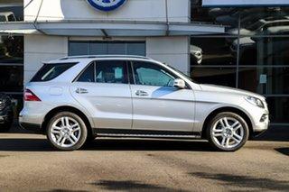 2014 Mercedes-Benz M-Class W166 MY805 ML250 BlueTEC 7G-Tronic + Silver, Chrome 7 Speed.