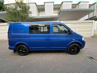 2009 Volkswagen Transporter T5 MY09 Crewvan Low Roof Blue 6 Speed Sports Automatic Van.