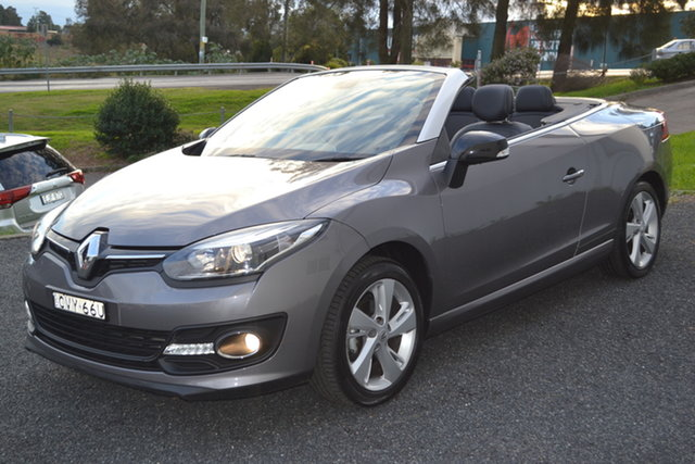 Used Renault Megane III E95 Phase 2 Dynamique Cpe Cabrio Maitland, 2014 Renault Megane III E95 Phase 2 Dynamique Cpe Cabrio Grey 6 Speed Constant Variable Convertible