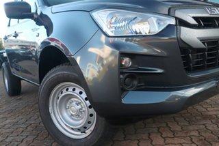 2021 Isuzu D-MAX RG MY21 SX Crew Cab Obsidian Grey 6 Speed Sports Automatic Cab Chassis.