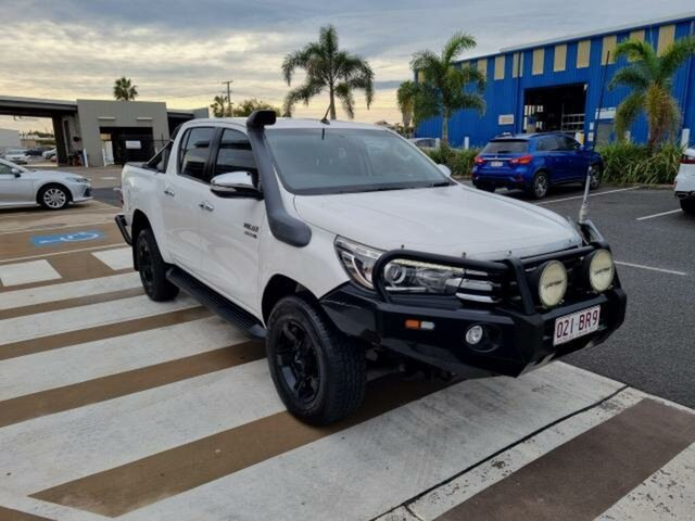 Pre-Owned Toyota Hilux GUN126R SR5 Double Cab Gladstone, 2016 Toyota Hilux GUN126R SR5 Double Cab Glacier White 6 Speed Sports Automatic Utility