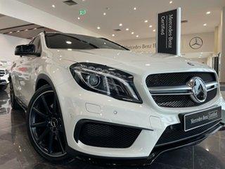 2016 Mercedes-Benz GLA-Class X156 807MY GLA45 AMG SPEEDSHIFT DCT 4MATIC White 7 Speed.