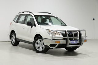 2015 Subaru Forester MY14 2.5I White Continuous Variable Wagon.