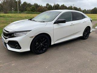 2018 Honda Civic 10th Gen VTi-LX White Constant Variable Hatchback.